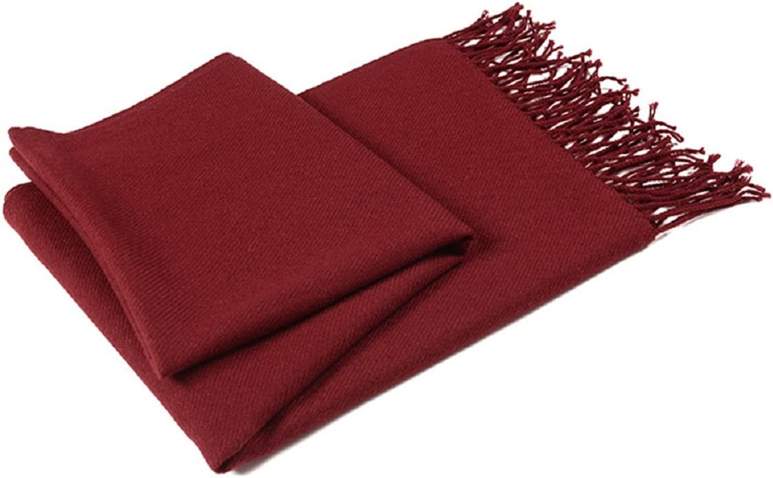 Axixi Womens Fancy Scarf Pashmina in Beautiful Solid Colors Color 1