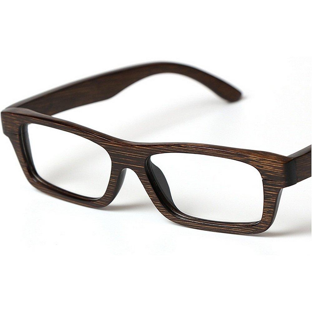 KSUNSEVEN Marco de la Cuadros Gafas de Madera Hechos Gafas a Mano ...