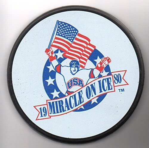 Collectibles Nhl (1980 Team USA Olympic Gold Medal Team Miracle On Ice Hockey Puck Lake Placid, New York - BRAND NEW! + FREE Cube)