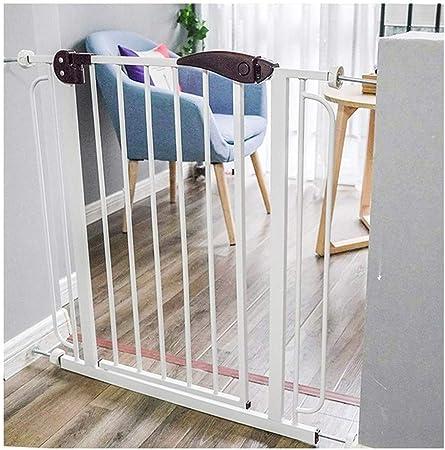 Barrera De Seguridad para Bebés Puerta Ajustable Extensión Metal Valla De Seguridad Fácil De Instalar Escaleras Valla De Seguridad Apto para Baños De Cocina (Color : White, Size : 100-107cm): Amazon.es: Hogar