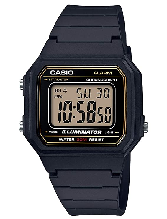 Casio Reloj Digital para Hombre de Cuarzo con Correa en Resina W-217H-9AVEF: Amazon.es: Relojes