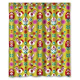 Pretty Animal Cartoons Colorful Rabbit Chick Shower Curtain - 60''x72'' Inches - Waterproof Polyester Fabric - Shower Rings Included