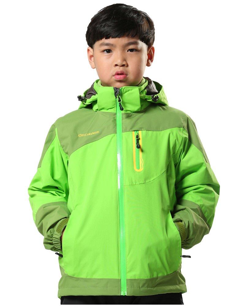 HAINES 3 in 1 Jacke Kinder Softshelljacke Wasserdicht Funktionsjacke Jungen M/ädchen Outdoorjacke Doppeljacke Winter Skijacke