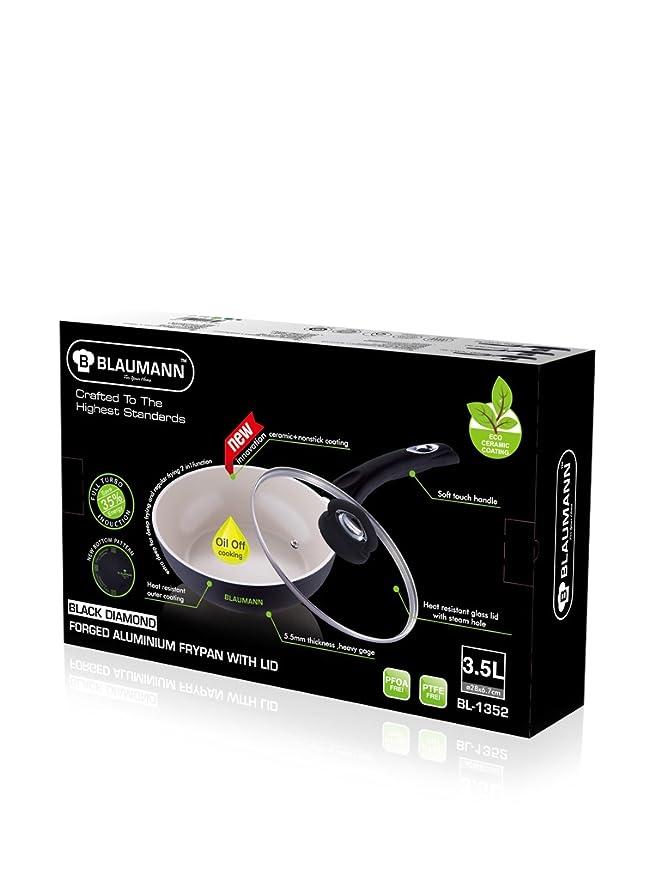 Blaumann Sartén Cerámica Con Tapadera 28 cm Full Turbo Induction: Amazon.es: Hogar