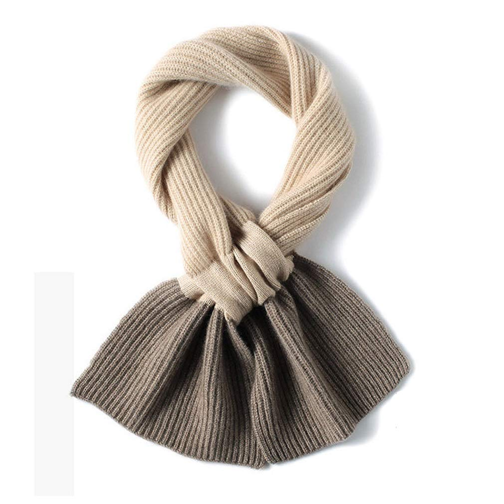 MAZORT Kids Cashmere Infinity Scarf Children Knitted Neck Warmer Toddler Christmas Gift Beige