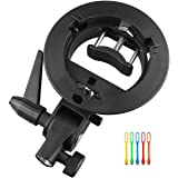 Godox S-Type Bracket Bowens S Mount Holder for Speedlite Flash Snoot Softbox Honeycomb with USB Light