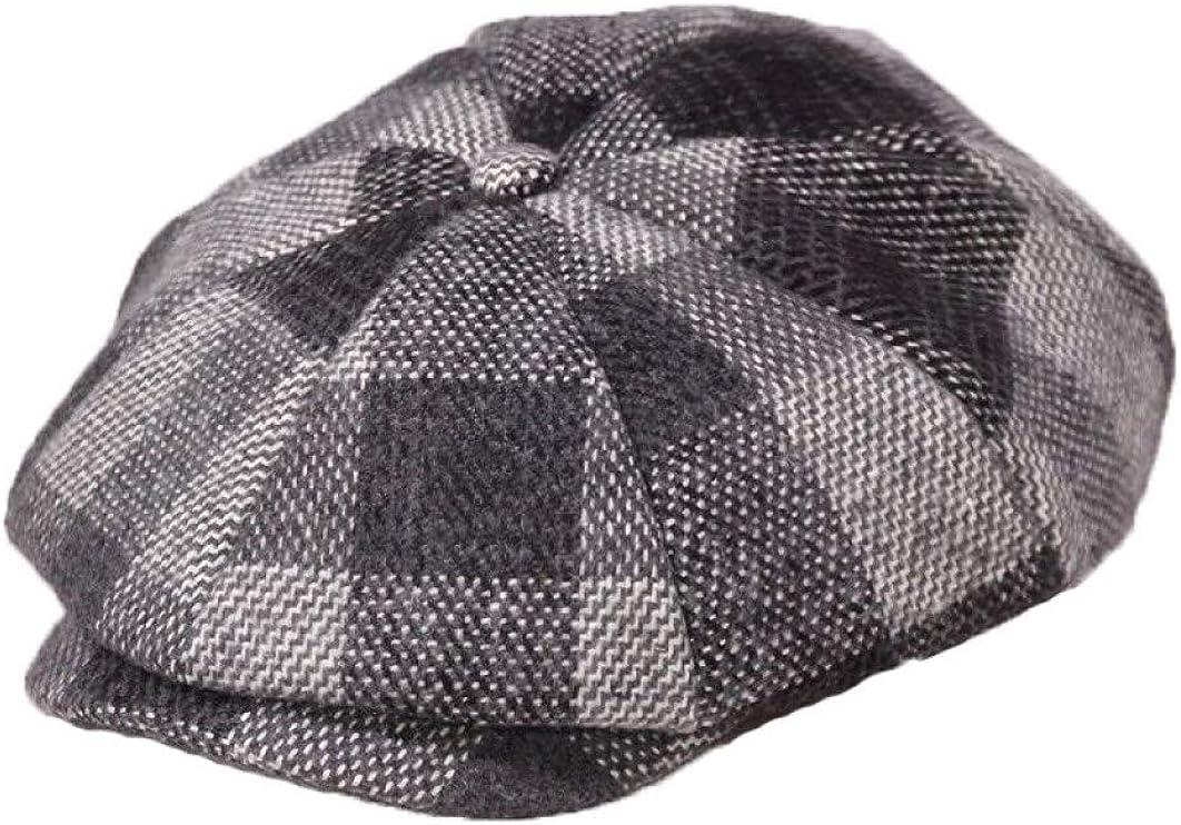 Unisex Plaid Octagonal Cap...