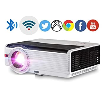 HD Android WiFi LCD LED Proyector Home Cinema Bluetooth 5000 ...