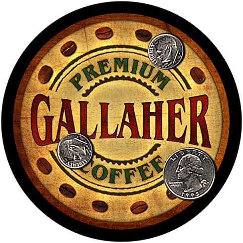 Gallaher Family Coffee Rubber Drink Coasters - Set of 4