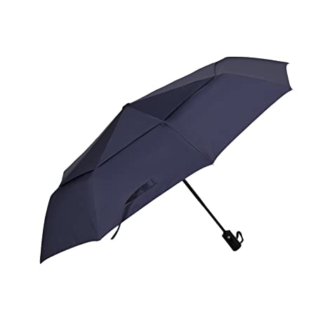 Paraguas Plegable DreamTECH De 8 Varillas Y Con Sistema Automático Para Abrir Y Cerrar Azul Oscuro