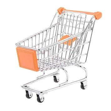 kimberleystore Creative Mini carrito de la compra carro de supermercado carrito con ruedas Asiento (naranja): Amazon.es: Hogar