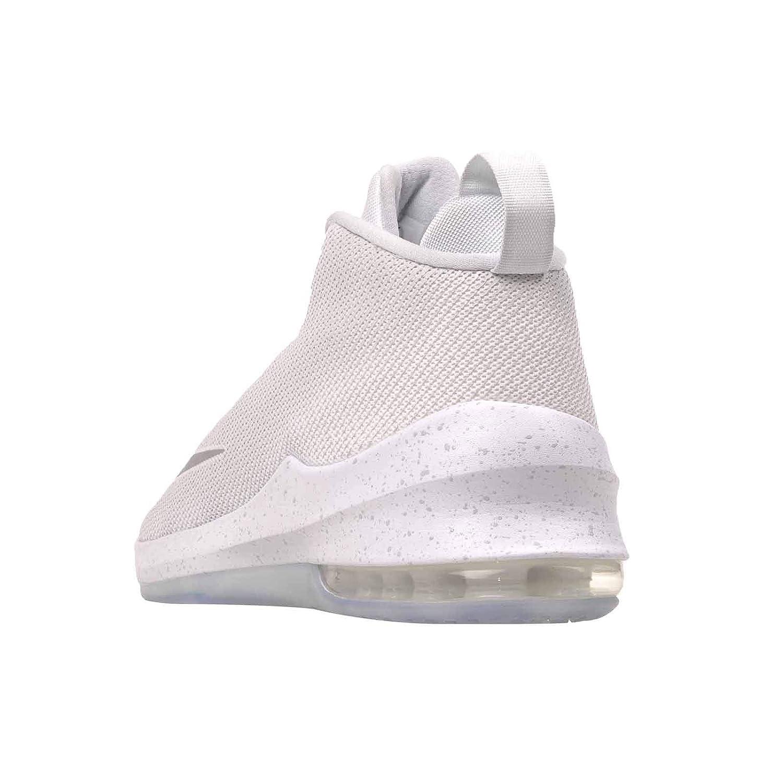 Nike Nike Nike Air Max Infuriate Mid Premium Men's Basketball schuhe Weiß Metallic Silber Größe 11.5 164588