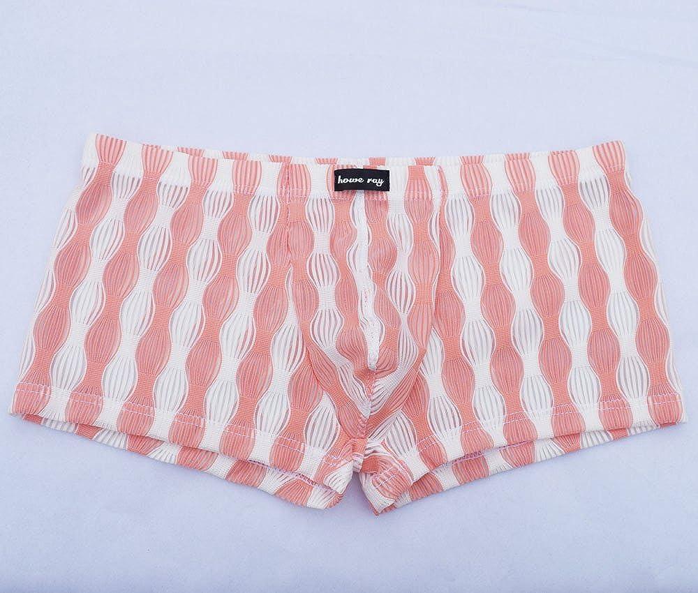JMETRIC Maillots de Bain Taille Basse Translucide Hommes Angle Plat Pantalon F/ête Lanterne Motif Tie pour Plage//Sport//Natation//plong/ée