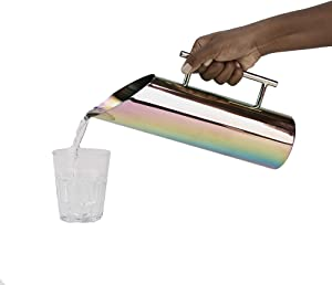 Mind Reader RAINPITCH-ASST, Stainless Steel Water, Copper Beverage, Decorative Rainbow Reflective Finish Pitcher, Gold, One Size, Multicolor