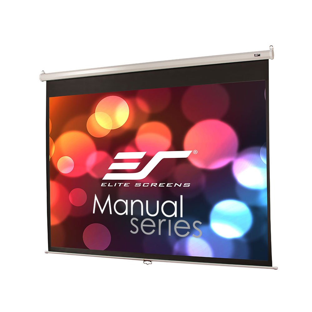 Elite Screens Manual Series, 120-INCH 4:3, Pull Down Manual Projector  Screen with AUTO LOCK, Movie Home Theater  8K / 4K Ultra HD 3D Ready, 2-YEAR WARRANTY , M120XWV2