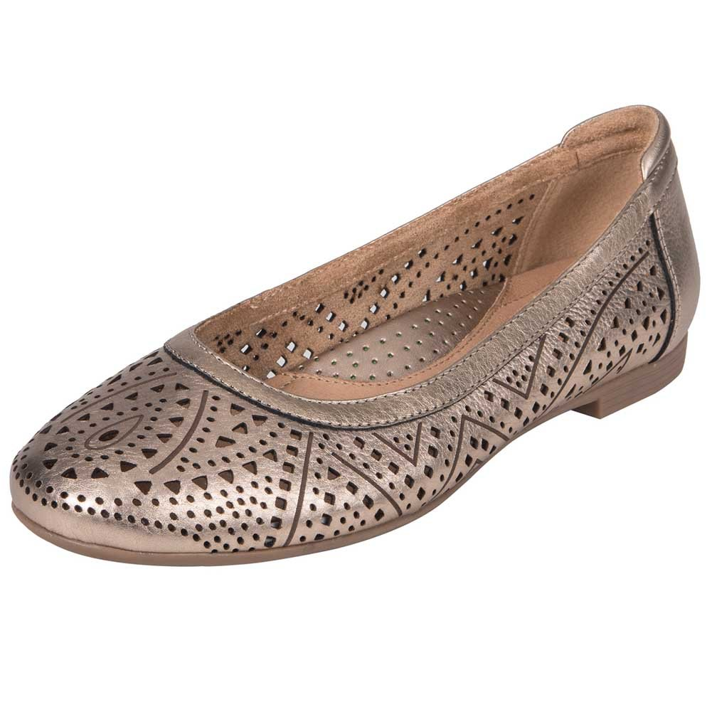 Earth Womens Royale Ballet US|Champagne Flat B074ZTKQQN 6.5 B(M) US|Champagne Ballet Metallic Leather 27f43f