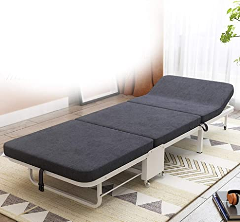 Cama plegable Multi-Nivel de ajuste del respaldo duradero for Oficina cubierta Balcón Patio Jardín Playa cama al aire libre simple plegable Robustos camas para dormir portátiles para campame: Amazon.es: Hogar