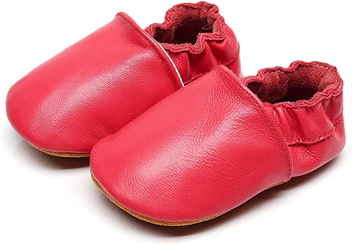 M:6-12 Months//4.72, Pink BubbleColor New Baby Moccasins Infant Toddler Crib Shoes Girls Boys Crawling Slippers Newborn First Walking Soft Sole Leather Loafers