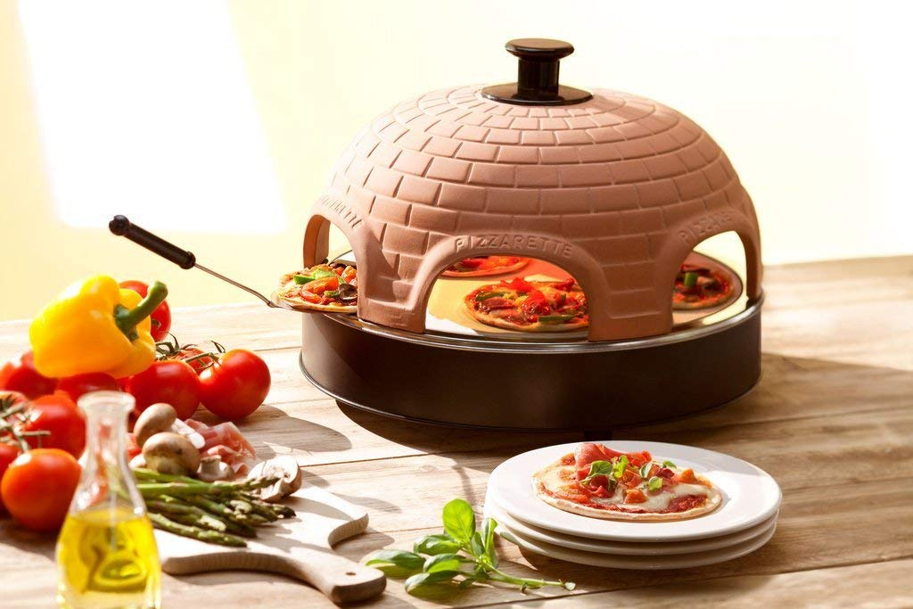 Pizzarette ? ?The World?s Funnest Pizza Oven? ? 6 Person Model with True Cooking Stone ? Countertop Pizza Oven ? Europe?s Best-Selling Tabletop Mini Pizza Oven Now Available In The USA Tabletop Chefs 69050