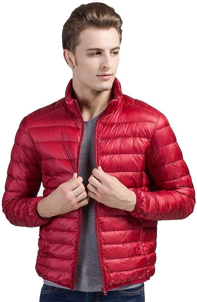Cappotto del Piumino D'Anatra in Piedi Alta qualità Collare di Unico Verso Il Basso Fashion Design Uomini Uomini in Cappotto di Inverno Rot