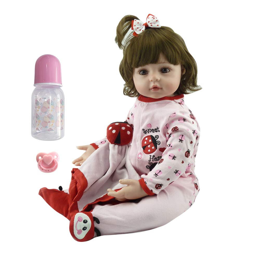 Real Looking Cute Pink Clothes Reborn Toddler Newborn Baby Girl Dolls /& Pacifier