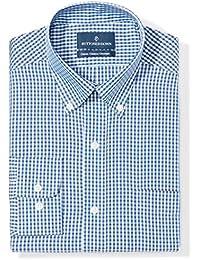Men's Classic Fit Plaid Pattern Non-Iron Dress Shirt
