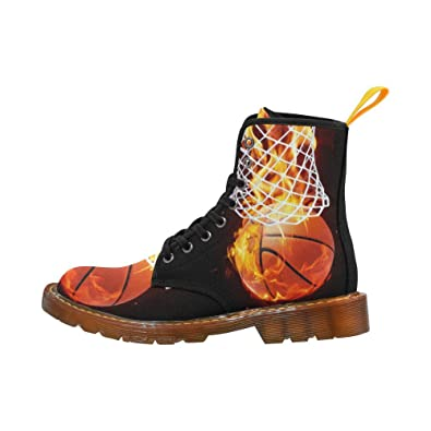 Shoes Flaming Basketball Lace Up Martin Boots For Women