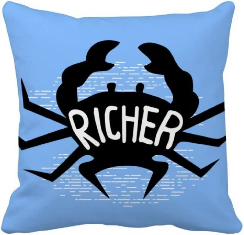 Diythinker Black Crab Animal Outline Natural Throw Pillow Sleeping Sofa Cushion Cover Home Kitchen
