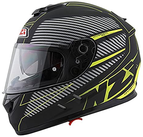 Amazon.es: NZI - Casco Integral Symbio 2 DUO Graphics Fiber Volt Negro-Amarillo Mate Talla L 58-59cms