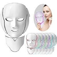 Lichttherapie Mask, 7 kleuren Led gezichtsmasker Lichttherapie Behandeling Anti-Aging Acne Vlekken verwijderen Rimpels…