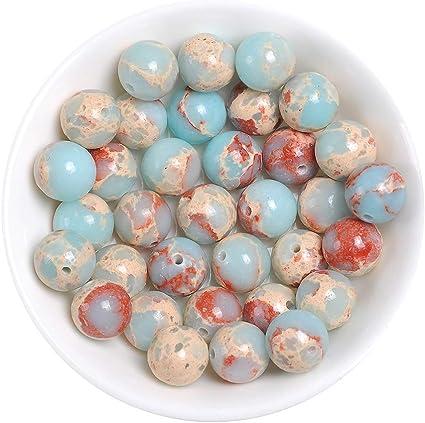8mm High Quality Imperial Jasper Blue 10mm sizes Semi-precious Gemstone Round Beads 16 strand 4mm 6mm dyed