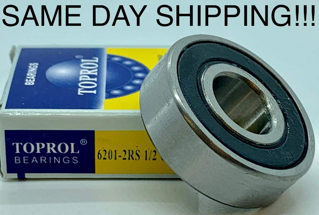 2 PCS 6201-2RS TWO SIDE RUBBER SEALS BEARING 6201-RS BALL BEARINGS 6201 RS
