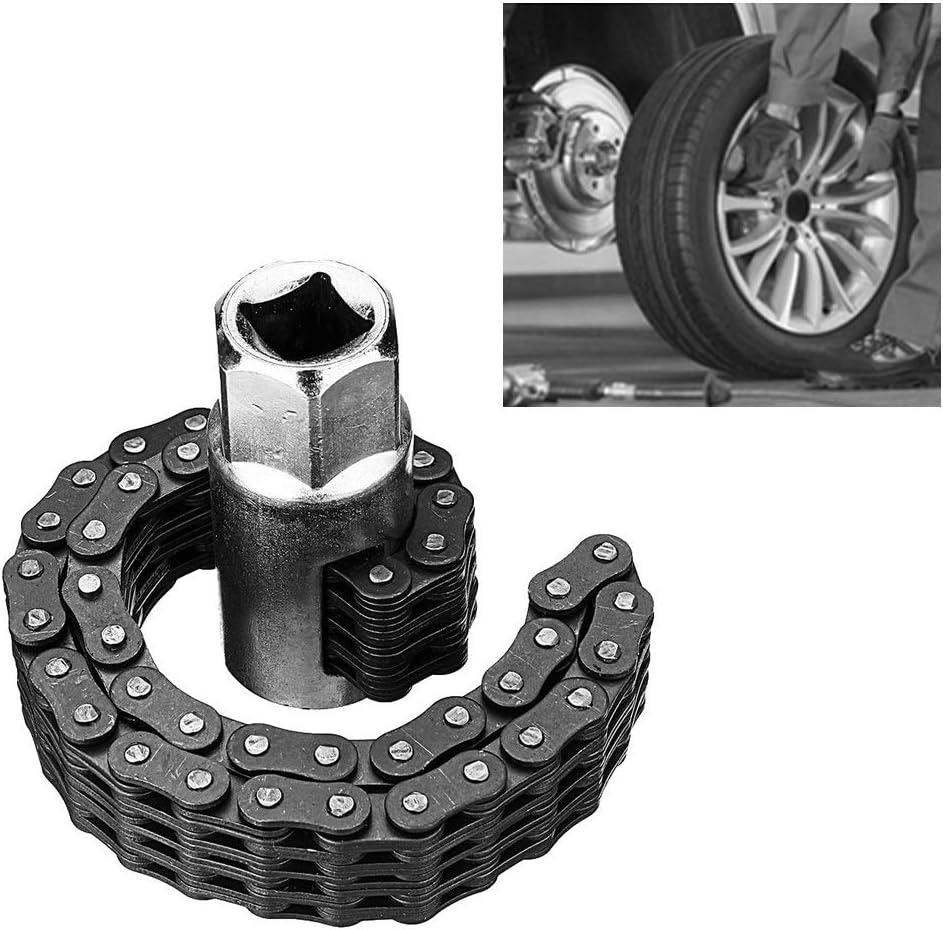 45532rr /Ölfilter Kettenschl/üssel Spanner Remover Einstellbare Auto-Reparatur-Werkzeug Color : 52 Sections 52 Abschnitte