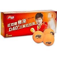 DHS D40+ 3-Star Orange Table Tennis Balls (10 Balls) + Protection Edge Tape