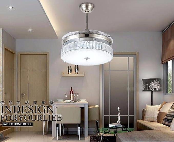 Parete Camera Da Letto Argento : Fgsgz ventilatore da soffitto luci camera da letto il led