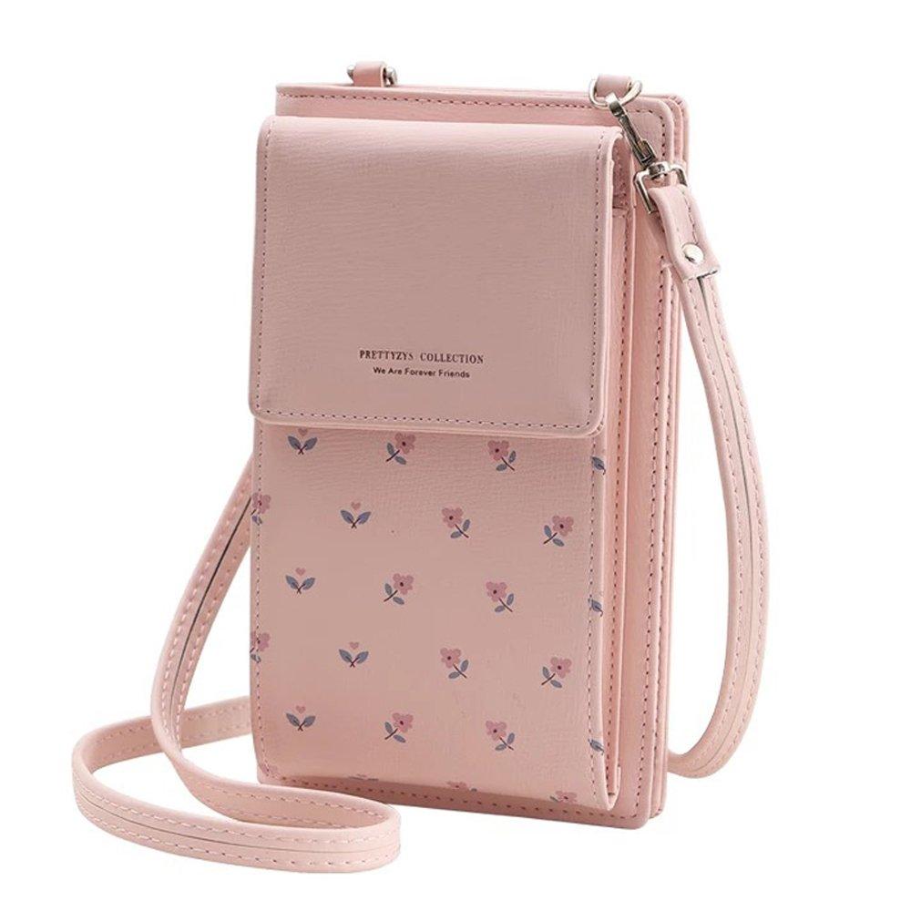 Amazon.com  Fashion Wallet Women Mini Crossbody Bag Cell Phone Pouch Small  Handbag Card Holder Coin Purse Girls Shoulder Bag (Pink)  Cell Phones   ... d8c6d2ec28be5