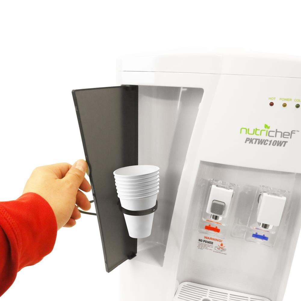 Nutrichef Countertop Water Cooler Dispenser - Hot & Cold Water, with Child Safety Lock. (White) by NutriChef (Image #5)
