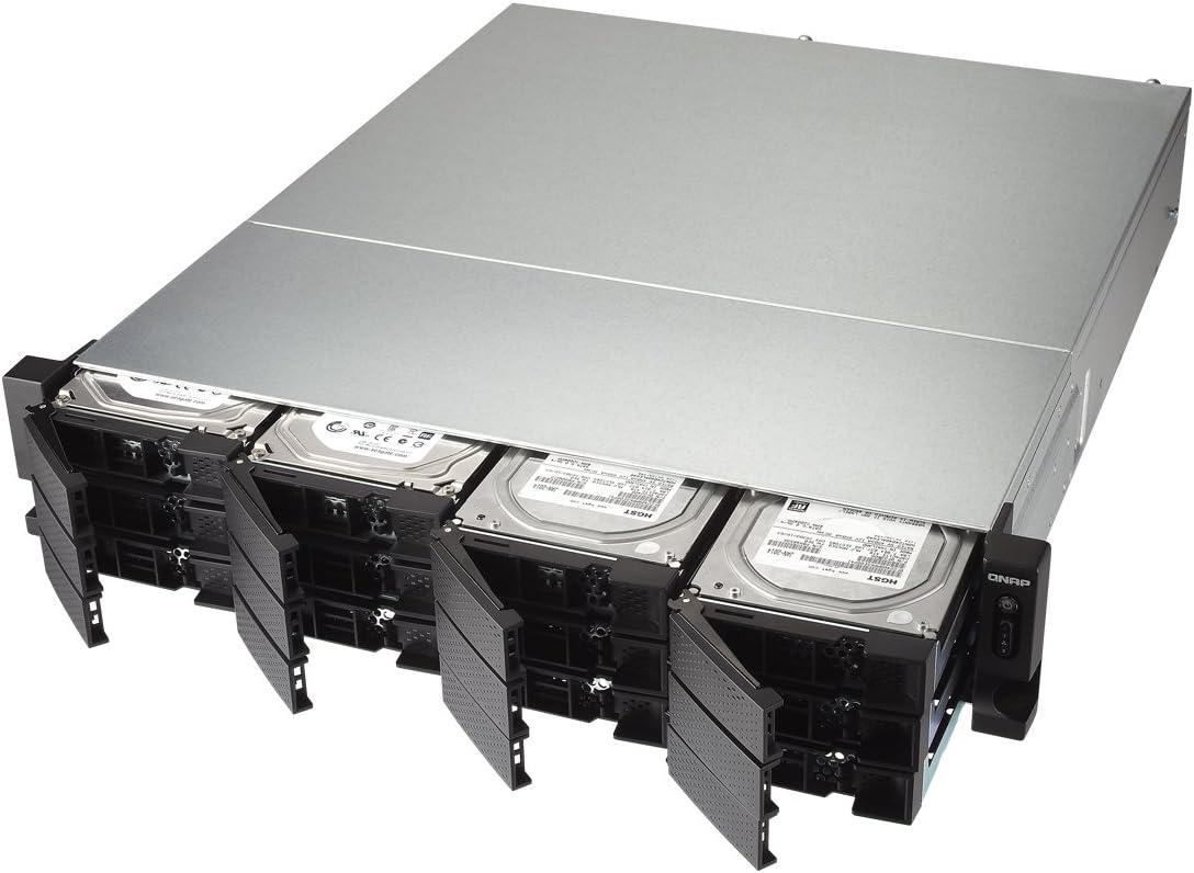 QNAP TS-1273U-RP-8G-US 2U 12-Bay NAS//iSCSI IP-SAN Redundant PSU 10GbE