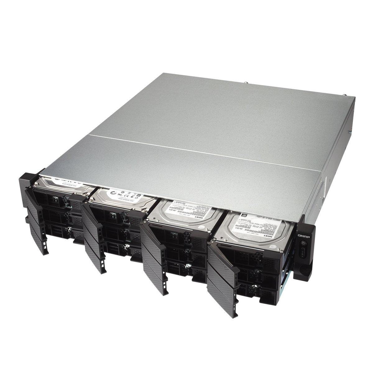 Qnap TS-1273U-RP-8G-US 2U 12-bay NAS/iSCSI IP-SAN, 10GbE, Redundant PSU by QNAP (Image #2)