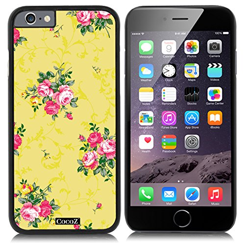 CocoZ New Apple iPhone 6 s 4.7-inch Case Beautiful Flowers PC Material Case (Black PC & Flowers - Accessories Chromes Ande