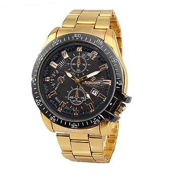 Lieblings Zantec Herren Business Style Gold Edelstahl Armbanduhr Rund &IT_43