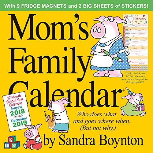 moms family wall calendar 2019 12 x 12