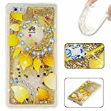 KSHOP Samsung Galaxy A5(2016)A510 Case,Silicone Transparent Liquid Glitter Case, Silicone Case Creative Design Transparent Glitter Flowing Liquid Floating Bling Sparkle Clear Crystal 3D Dynamic Funny TPU Gel Case Bumper Backcase Cover Skin Protective Bumper Ultra Fit Shell Creative Designed for -Golden