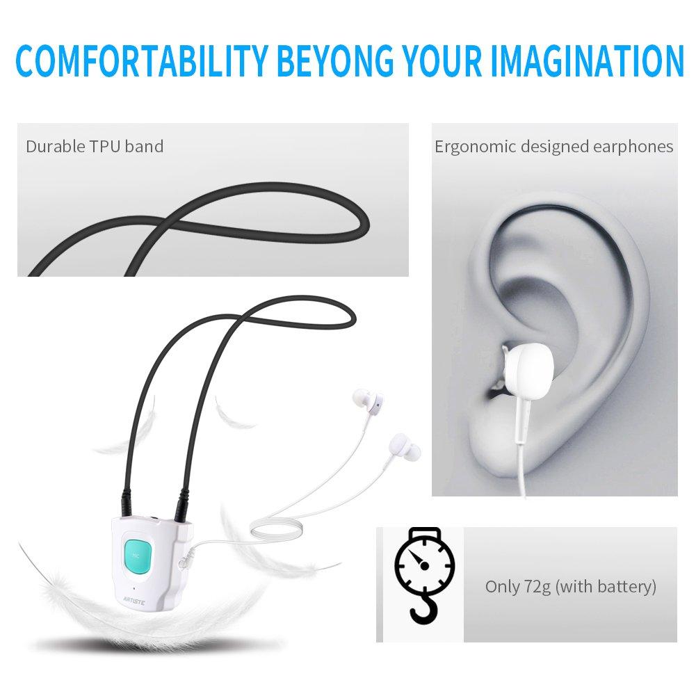 Artiste - E1 auriculares audífonos el viejo hombre TV auriculares HIFI Auriculares inalámbrico de 2,4 GHz con comercial instalación para TV Teléfono ...