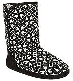 Capelli New York Ladies Multi Knit Snowflake Boot Black Combo Medium