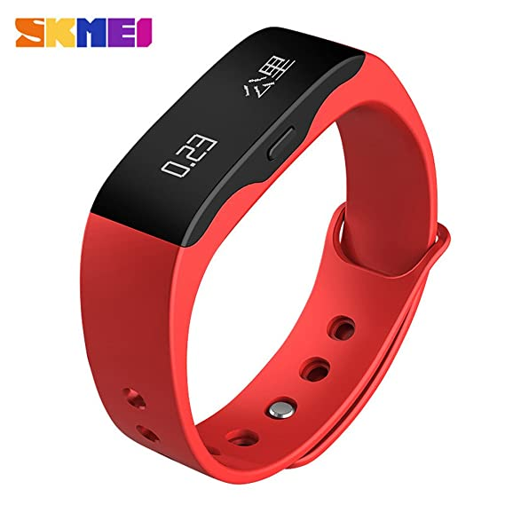 Skmei Ultra-thin Smart LED reloj Podómetro, multi-función reloj Digital DEPORTE Fitness