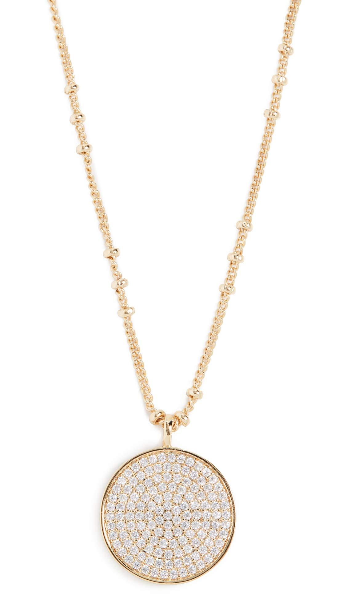 gorjana Women's Pristine Coin Necklace, Yellow Gold, One Size