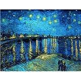 Poster 50 x 40 cm: Starry Night Over the Rhone di Vincent van Gogh - stampa artistica professionale, nuovo poster artistico