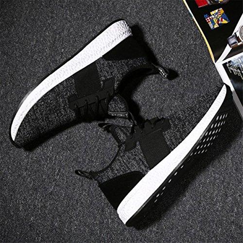 Noir Hommes Les Liées Des De Gym Chaussures Course Couleur Fashion Respirant Homme w4ExnPqOC