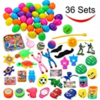 36 Toys Filled Easter Eggs, 2.25 Inches Bright Colorful...